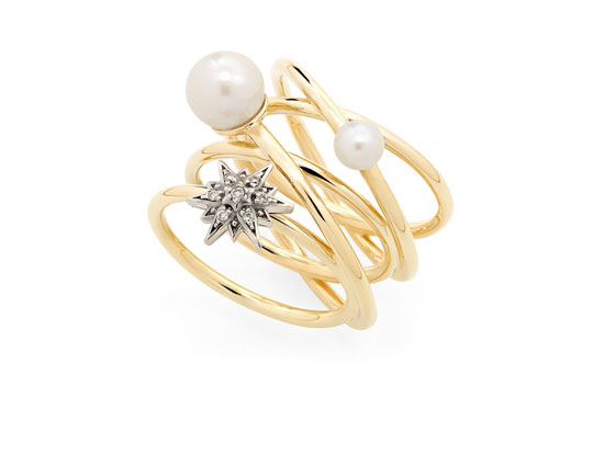Pearls of Genesis Ring