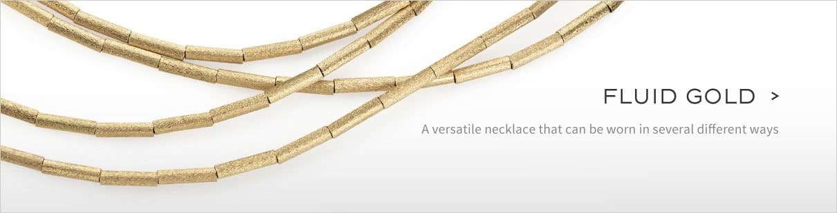 A versatile necklace that  can be  worn in several different ways